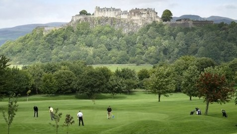 Yes that is Stirling Castle overlooking the course